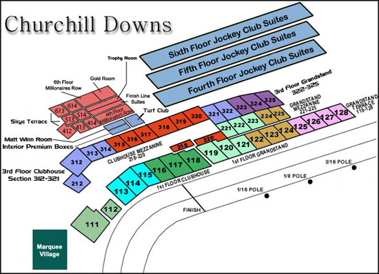 Churchill Downs Seating View Publishing 311 Investingbb